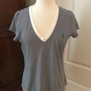 Ralph Lauren blue striped t-shirt. NWOT